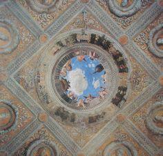 Mantegna (Cámara de los Esposos, oculo).jpg (1413×1354)