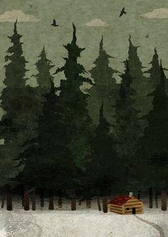 Cabin in the Woods by Frann Preston-Gannon