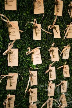 secret garden theme wedding. Garden and key guest seating chart wall