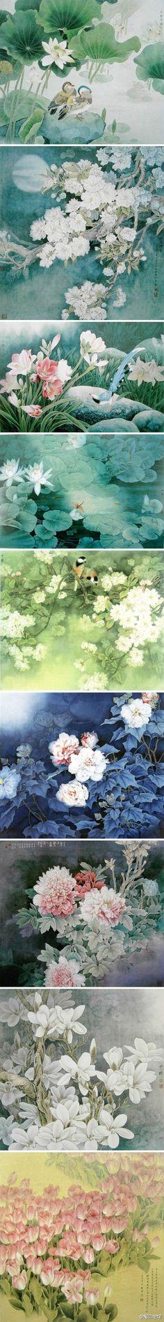 Chinese brush paintings: