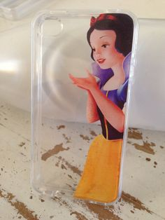 snow white iphone 5 5s 4 4s clear case by Rosaliehandmade on Etsy, $14.99