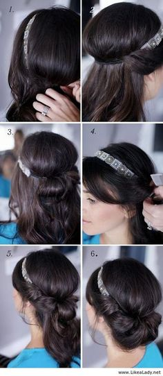 im also wearing a headband so i might have to do something like this ?