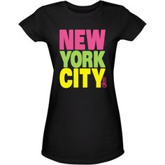 Glee New York City Women's T-Shirt ($25) ❤ liked on Polyvore featuring tops and t-shirts