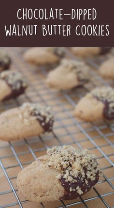 Chocolate-Dipped Walnut Butter Cookies    A Less Processed Life