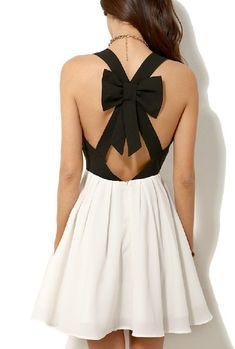 Shop Black Criss Cross Back Bowknot Pleated Dress online. SheIn offers Black Criss Cross Back Bowknot Pleated Dress & more to fit your fashionable needs. Pretty Dresses, Sexy Dresses, Beautiful Dresses, Casual Dresses, Sleeveless Dresses, Gorgeous Dress, Bow Dresses, Mini Dresses, Looks Chic