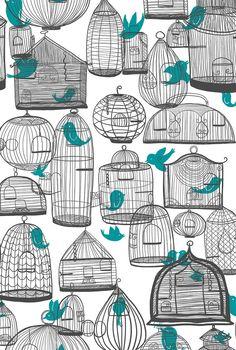 Bird cage illustration