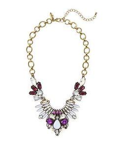 ROMEO & JULIET COUTURE Gold-Tone Deep Purple Necklace