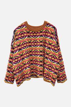 Marfa cashmere sweater in multi – Arela
