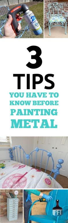 Painting metal can give your house a completely new look, completely transform patio furniture, or give your son's a bike a brand new look.