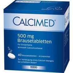 CALCIMED 500 mg Brausetabletten:   Packungsinhalt: 40 St Brausetabletten PZN: 09750168 Hersteller: HERMES Arzneimittel GmbH Preis: 11,20…