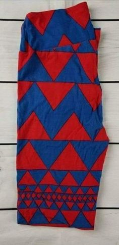 986366812cea74 lularoe leggings os new red and blue triangles #fashion #clothing #shoes  #accessories