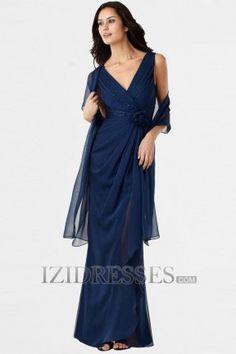 Thoughts ?? Sheath/Column V-neck Chiffon Evening Dresses