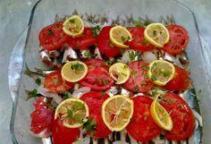 Domatesli Sardalya Balığı Fish Dishes, Caprese Salad, Bruschetta, Salsa, Seafood, Vegetables, Ethnic Recipes, Sea Food, Vegetable Recipes