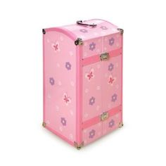 Badger Basket Blossoms And Butterflies Doll Storage Trunk - Pink/Purple (Toy)