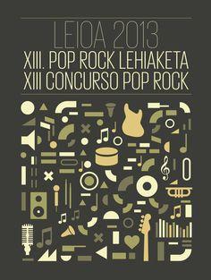 Poster del XIII concurso pop rock LEIOA 2013