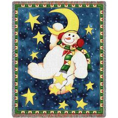 Hanging On The Moon Woven Throw Blanket