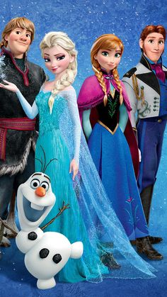 Frozen iPhone 6 plus wallpaper -2014 Christmas Disney Anna Elsa Kristoff Hans Olaf  #2014 #Christmas #Frozen