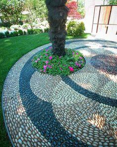 ✔ 45 beautiful front yard garden landscaping ideas with rock 37 Garden Paths, Garden Art, Gravel Garden, Stone Backyard, Backyard Patio, Modern Backyard, Design Jardin, Pebble Mosaic, Front Yard Landscaping