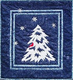 So pretty  nice Christmas quilt
