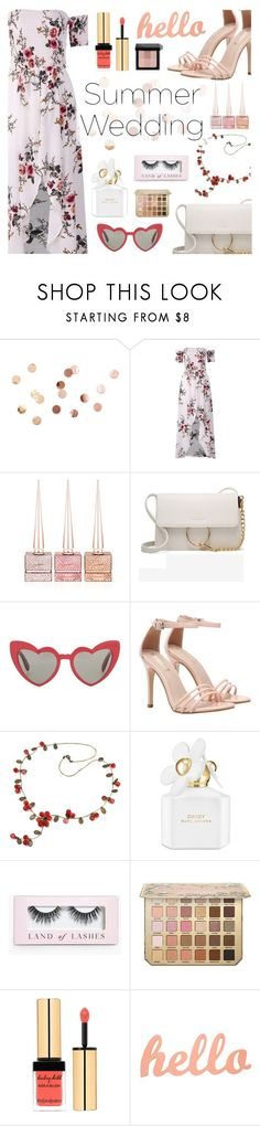Newchic Anniversary SALE by dora04 on Polyvore featuring Yves Saint Laurent, Bobbi Brown Cosmetics, Marc Jacobs, Christian Louboutin, Boohoo, Umbra and summerwedding