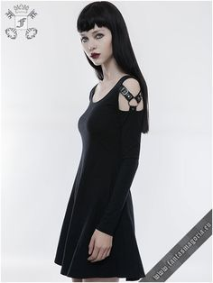 punk rave gothic bella Nero Donna Breve Maniche SCHIRT V