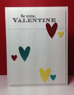 Be Mine Embossed Hearts, v-day, by beesmom - Cards and Paper Crafts at Splitcoaststampers