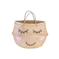 This Sweet Dreams seagrass basket from Sass & Belle is here to make all your home storage dreams come true! The beautiful and natural woven design Home Decor Baskets, Basket Decoration, Garden Decorations, Seagrass Storage Baskets, Wicker Baskets, Belly Basket, Sass & Belle, Nursery Storage, Bedroom Storage
