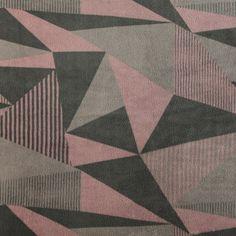Coral fleece m grå/rosa grafisk mønster