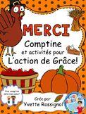 """Comptine pour dire """"Merci""""! (L'Action de Grâce, French pri"""