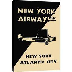 Global Gallery 'New York Airways Inc' Graphic Art Print on Canvas