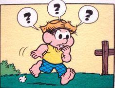 Chico Bento tem dúvidas… Ilustração Maurício de Sousa. Turma Da Mônica, Chiquinho, Quadrinhos, Snoopy, Livros De Quadrinhos, Personagens Fictícios, Arte