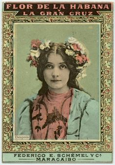 Després. Flor de la Habana Cigarette Cards of Actresses.