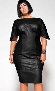 plus size leather dress -yeah! Get it gurl...