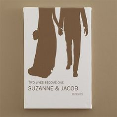 The Perfect Couple© Personalized Silhouette Canvas Art