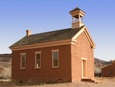 Old school house ~ Grafton, Utah Abc School, Old School House, School Days, School Prayer, Country School, Thing 1, Old Churches, Vintage School, School Building