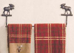 Majestic Moose Cast Towel Bar - 24 Inch - CLEARANCE