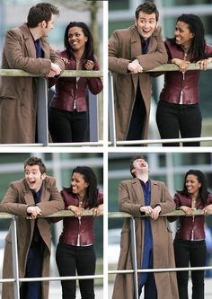 Love the actual surprise on both their faces /// because they didn't know Jack was the Face of Boe until they filmed that scene. David is such a FANBOY!