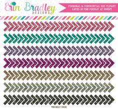 Glitter Chevron Borders Clipart Graphics by ErinBradleyDesigns