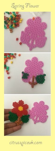 A lovely Spring Flower picture craft project to do with kids.