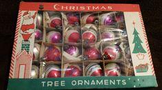 Vintage Set of 24 Mercury Glass Christmas Ornaments by VintageBarnYard on Etsy