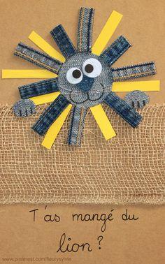 T'as mangé du lion ? Recyclage des pantalons #jeans #recycle https://pinterest.com/fleurysylvie/mes-creas-la-collec/ et www.toutpetitrien.ch