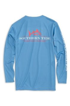 dbc274656e Rising Skipjack Long Sleeve Performance Tee - Oasis Blue Southern Tide,  Oasis, Long Sleeve