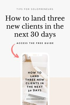 If you are struggling to get more clients for your solopreneur service business or your freelance business, this free resources will teach you the three simple steps to landing your next client fast! Business Coaching, Business Advice, Online Business, Make Money Blogging, Make Money From Home, Way To Make Money, Small Business Help, How To Get Clients, Dance Studio