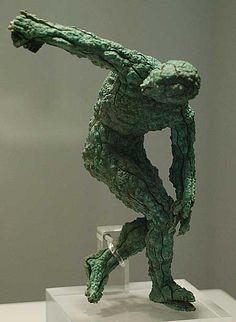 Hellenistic Discus thrower; not the Hulk; probably recovered from underwater.