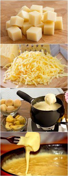 Delicioso FONDUE DE QUEIJO...VEJA AQUI>>>Rale os queijos no ralador ou processador Dissolva o amido de milho no vinho branco #receita#pizzadecalabresa#paodecalabresa#massas#torta#lanches#salgados#hamburgueres#lasanha#macarrao#pao#polenta Fondue, Polenta, Macaroni And Cheese, Food And Drink, Favorite Recipes, Snacks, Ethnic Recipes, Salty Snacks, Sweet Like Candy