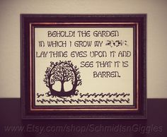 ADULT LANGUAGE Behold My Barren Garden 8x10 by SchmidtsnGiggles