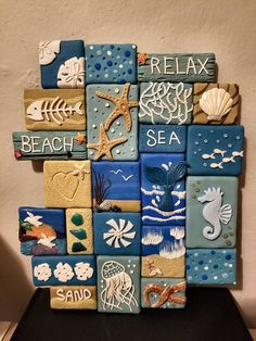 Decoração Seashell Crafts, Beach Crafts, Summer Crafts, Clay Crafts, Diy And Crafts, Arts And Crafts, Craft Projects, Projects To Try, Shell Art
