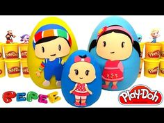Nail Baba Pepee ve Leli ile çocuk parkında. Çizgi film oyuncakları. Çocuklar için video - YouTube