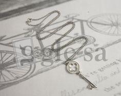 #collana maglia rolò cm 70 con ciondolo a #chiave #argento 925 http://www.glesa.it/vetrine/linea_cuore_925