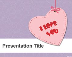 I Love You PowerPoint Template